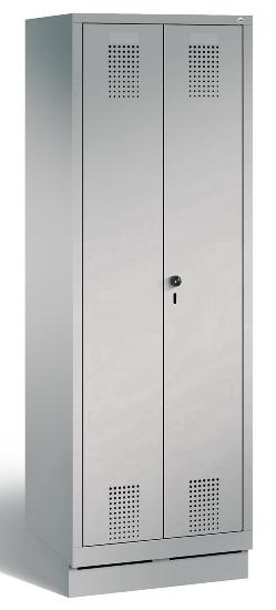 C+P Doppelspind Evolo 48022-22 auf Sockel 2 Abteile 400mm (HxBxT) 1800x810x500mm Lichtgrau/Lichtblau