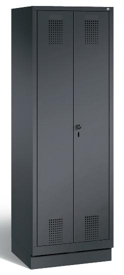 C+P Doppelspind Evolo 48022-22 auf Sockel 2 Abteile 400mm (HxBxT) 1800x810x500mm Schwarzgrau/Enzianblau