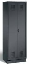 C+P Doppelspind Evolo 48022-22 auf Sockel 2 Abteile 400mm (HxBxT) 1800x810x500mm Schwarzgrau/Lichtrgrau