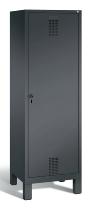 C+P Doppelspind Evolo 48210-20 auf Füßen Tür über 2 Abteile mit 2 Abteilen 300mm (HxBxT) 1850x610x500mm Schwarzgrau
