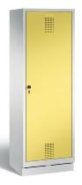 C+P Doppelspind Evolo 48220-20 auf Sockel Tür über 2 Abteile mit 2 Abteilen 300mm (HxBxT) 1800x610x500mm Lichtgrau/Schwefelgelb