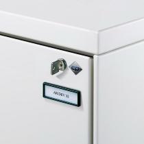 C+P Etikettenrahmen aus Kunststoff 6103-13 selbstklebend Schwarz 5er Pack)
