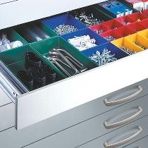 C+P Schubladeneinrichtung 7100-5051 (Kunststoffkästchen) für Flachablageschrank-Schubladen DIN A1