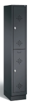 C+P Spind doppelstöckig 8320-10 Classic auf Sockel 1x 2 Fächer 300mm (HxBxT) 1800x320x500mm Schwarzgrau