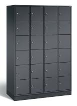 C+P Schließfachschrank 8670-401 Intro 4x 6 Fächer 300mm (HxBxT) 1950x1220x500mm Schwarzgrau