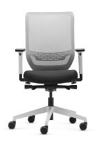 Trend!Office SC9242/pro WHITE to-sync work (mesh) mit formschöner Netzrückenlehne