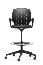 Trend!Office SC9276_CFR to-sync cowork Counter-Konferenzdrehstuhl mit Fußring