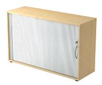 Rollladenschrank 1732S SOLIDplus 2OH abschließbar (BxHxT) 120x74,8x40cm Ahorn/Silber Bogengriff