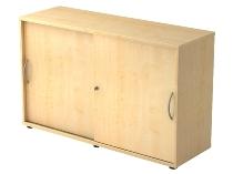 Schiebetürenschrank 1752S SOLIDplus 2OH abschließbar (BxTxH) 120x40x74,8cm Ahorn Bogengriff