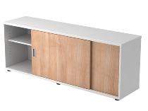 Sideboard 1758S doubleSIDED 1.5OH (BxTxH) 160x40x59,6cm Weiß/Nussbaum
