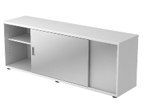 Sideboard 1758S doubleSIDED 1.5OH (BxTxH) 160x40x59,6cm Weiß/Silber
