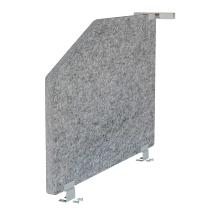 Akustik-Mittelwand ARS1 für Tische 80cm tief (TxH) 73,5x50cm grau-meliert
