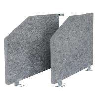 Akustik-Seitenteil ARS2 Set (2St) für 1 Tisch 80cm tief (TxH) 73,5x50cm grau-meliert