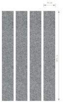 Akustik-Wandpanel AWP200 (HxB) 200x25cm grau-meliert Pack 4 Stück