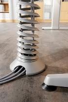 Hammerbacher Kabelspirale vertikal CKXE Kunststoff Silber Länge 130cm