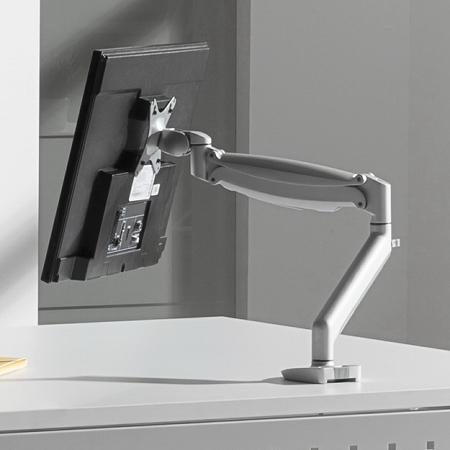 Hammerbacher Bildschirmarm CPSA Gasschwenkarm aus ALU-Druckguss Silber