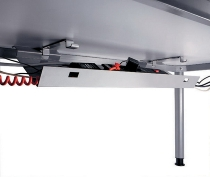 Kabelkanal HK12 abklappbar Länge 90cm Lichtgrau
