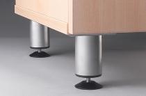 Sockelfüße KBFU Metallfüße rund höhenjustierbar Silber Packung 2 Paar
