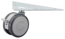 Doppellaufrollen KBRO je 2x gebremst/ungebremst Höhe ca.9cm