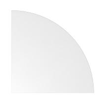 Eckwinkel LE91 gerundet 90° (BxT) 80x80cm Weiß