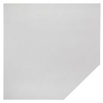 Trapezplatte LT12 WHITE mit Stützfuß (BxT) 120x120cm Grau/Weiß