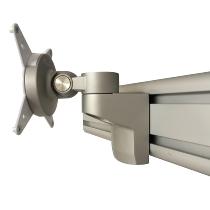 ORGA Bildschirmhalter ORGPD fixe Höhe drehbar Tragkraft max.8kg Silber