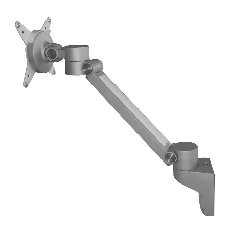 ORGA Bildschirmhalter ORGPF flexible Höhen-/Tiefenverstellung Tragkraft max.7kg Silber