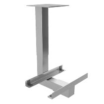 CPU-Halter RCPU/G für Untertischmontage Silber