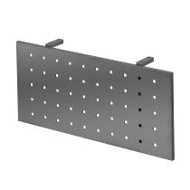 Sichtblende RSI08/G (BxH) 80x35cm aus Lochblech für RS-Schreibtische Graphit