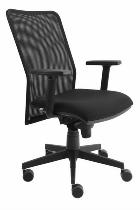 Bürodrehstuhl PREMIUM SDS2/D Solid 2 mit Netzrücken Schwarz