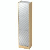 Rollladenschrank SET50 SOLIDplus 5OH abschließbar (BxTxH) 50x40x200,4cm Ahorn/Silber Relinggriff