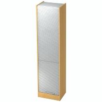 Rollladenschrank SET50 SOLIDplus 5OH abschließbar (BxTxH) 50x40x200,4cm Buche/Silber Relinggriff