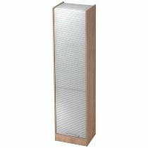 Rollladenschrank SET50 SOLIDplus 5OH abschließbar (BxTxH) 50x40x200,4cm Nussbaum/Silber Relinggriff