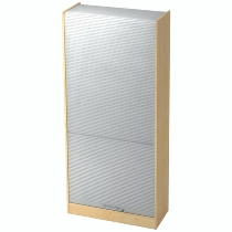 Rollladenschrank SET90 SOLIDplus 5OH abschließbar (BxTxH) 90x40x200,4cm Ahorn/Silber Relinggriff