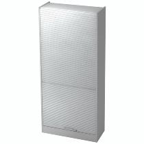 Rollladenschrank SET90 SOLIDplus 5OH abschließbar (BxTxH) 90x40x200,4cm Grau/Silber Relinggriff