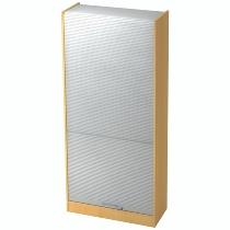 Rollladenschrank SET90 SOLIDplus 5OH abschließbar (BxTxH) 90x40x200,4cm Buche/Silber Relinggriff