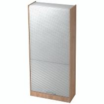 Rollladenschrank SET90 SOLIDplus 5OH abschließbar (BxTxH) 90x40x200,4cm Nussbaum/Silber Relinggriff