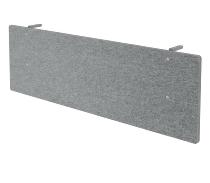 Knieraumblende SIA12 Akustik für 120cm breite Tische Grau