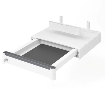 Hammerbacher UCBS Unterbauschublade abschließbar mit Soft Stop Weiß