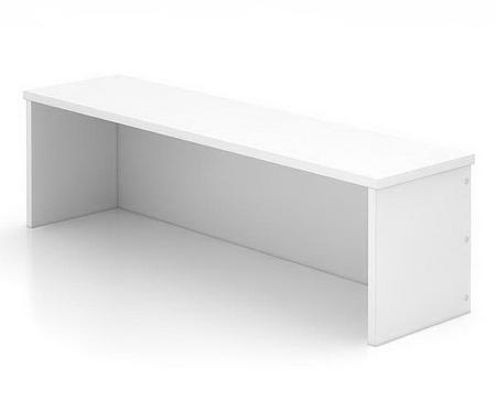 Thekenaufsatz WB08 UNIVERSAL für Schreibtische 80cm breit Ahorn