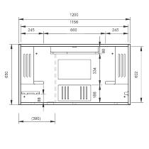 Hammerbacher Wandschreibtisch WO12 (BxTxH) 120x26x65cm Weiß/Weiß