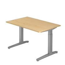 Hammerbacher XB12 Schreibtisch C-Fuß (BxT) 120x80cm Ahorn/Silber