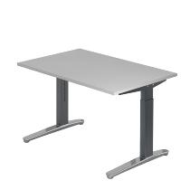 Hammerbacher XB12 Schreibtisch C-Fuß (BxT) 120x80cm Grau/GraphitPo