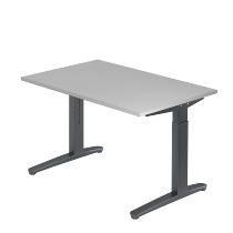 Hammerbacher XB12 Schreibtisch C-Fuß (BxT) 120x80cm Grau/Graphit