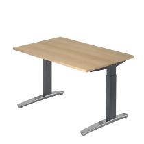 Hammerbacher XB12 Schreibtisch C-Fuß (BxT) 120x80cm Eiche/GraphitPo