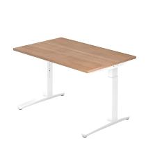 Hammerbacher XB12 Schreibtisch C-Fuß (BxT) 120x80cm Nussbaum/Weiß