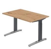 Hammerbacher XB12 Schreibtisch C-Fuß (BxT) 120x80cm Asteiche/GraphitPo