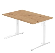 Hammerbacher XB12 Schreibtisch C-Fuß (BxT) 120x80cm Asteiche/Weiß