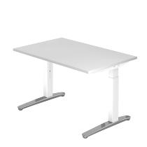 Hammerbacher XB12 Schreibtisch C-Fuß (BxT) 120x80cm Weiß/WeißPo