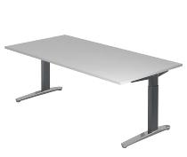 Hammerbacher XB2E Schreibtisch C-Fuß (BxT) 200x100cm Grau/GraphitPo